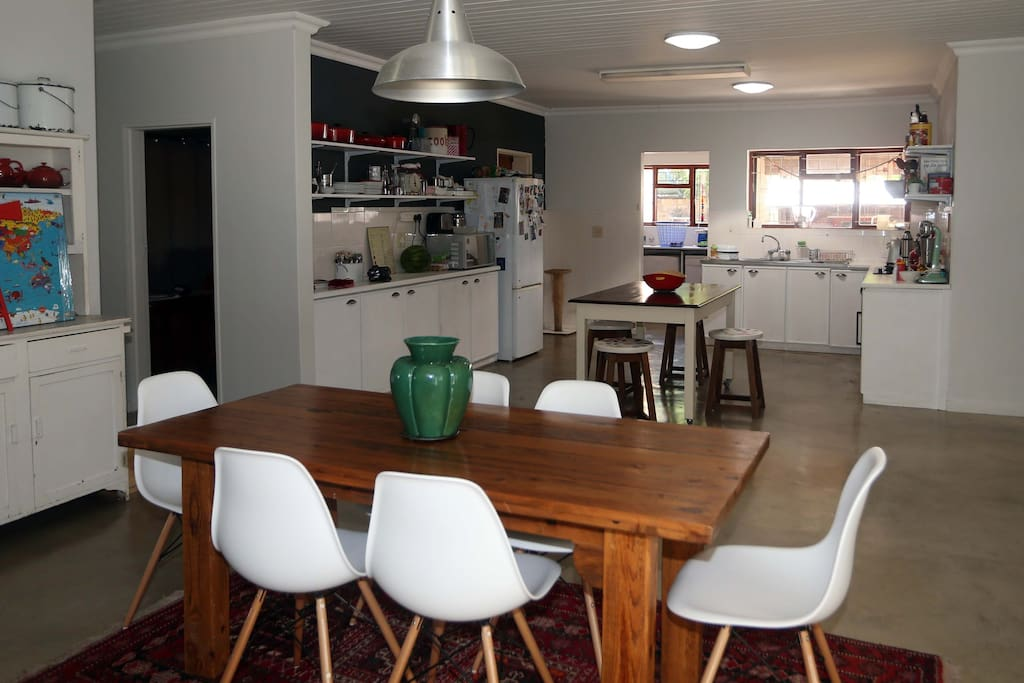 Dinning room and kitchen.
