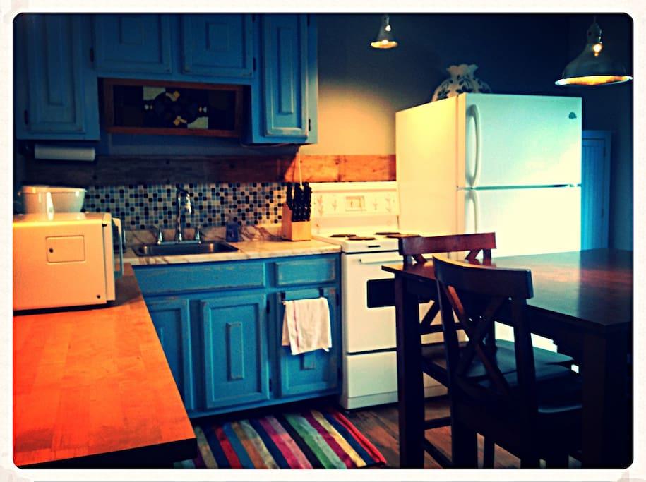 cuisine et chambre des maîtres