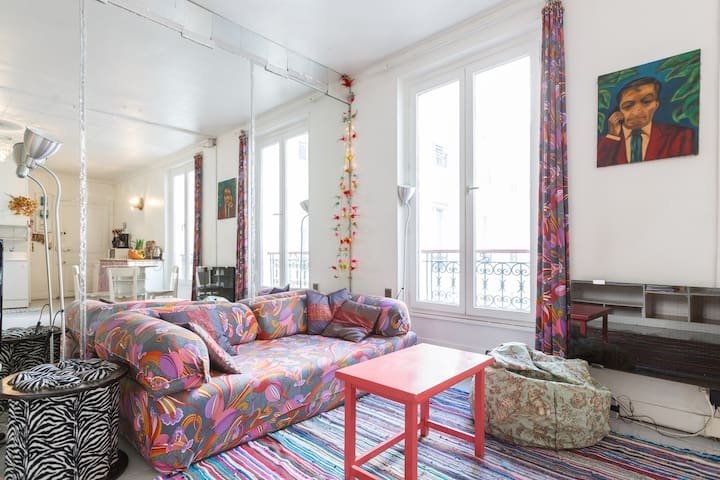 Appartment loft style in Montmarte