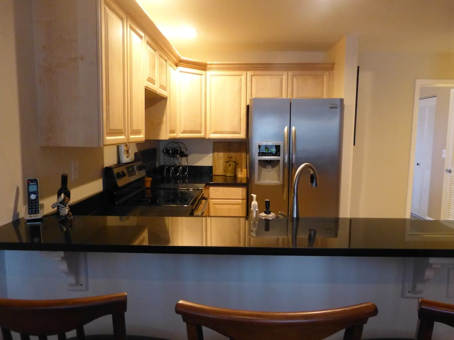 The kitchen was just remodeled,