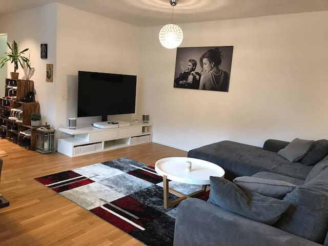 New apartment in city with balcony