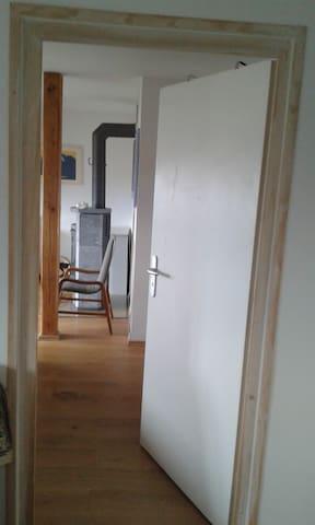 Internal door between the two rooms