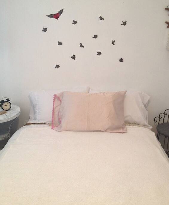 Comfy full-size bed
