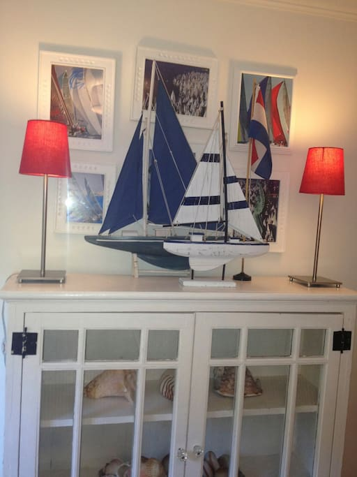 Your nautical decor in room.