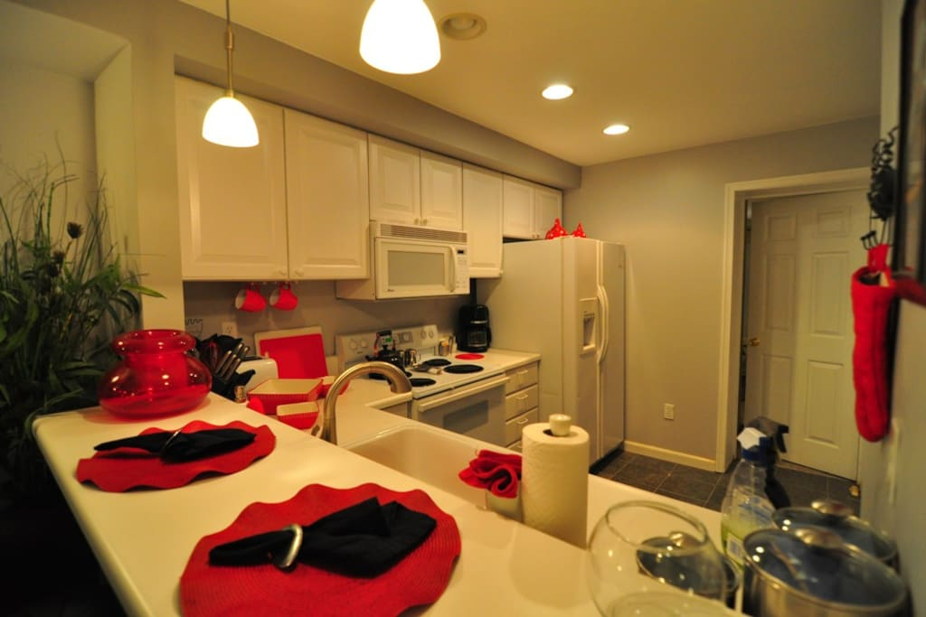 This is the kitchen of the apartment with all 'chef's' tools to create your best dishes!!