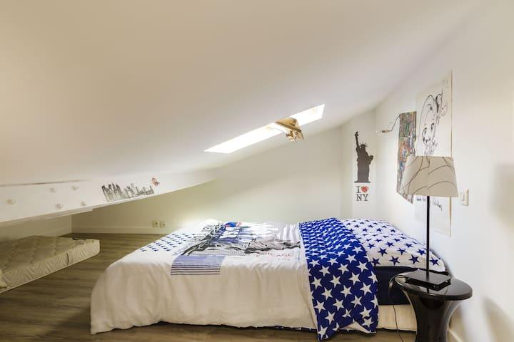 Chambre2 lit 140 et lit 90