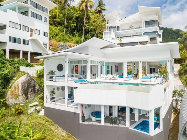 Duplex  vue mer  piscine privee