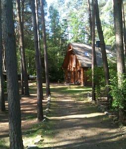 """Kiefernrundbohlenhaus """"NaturPur"""" - Bardowick - Cottage"""