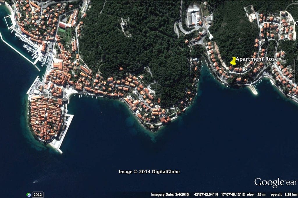Korcula_GEarth_Location_Coordinates_Tom Tom_Garmin_Satellite Nav