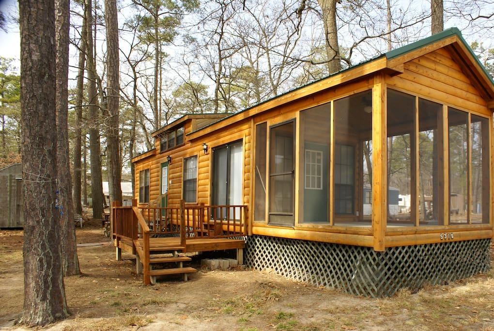 Cabin chincoteague clos horntown va blockh tten zur for Cabins near assateague island