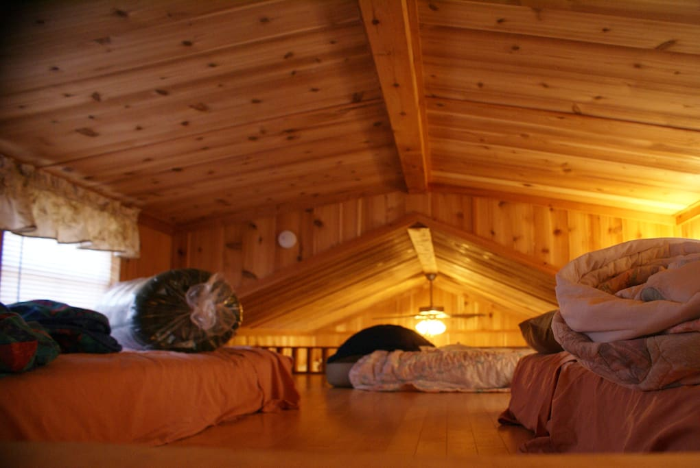 The loft where the kids love there privacy unless your able to crawl 3 1/2 feet floor to ceiling.