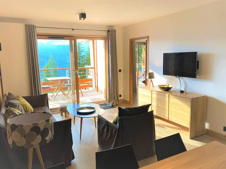 L'Ecrin, Arc 1800: space, great view, sauna, Wifi