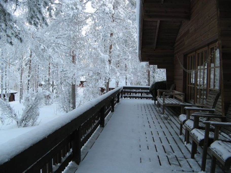 Терраса зимой