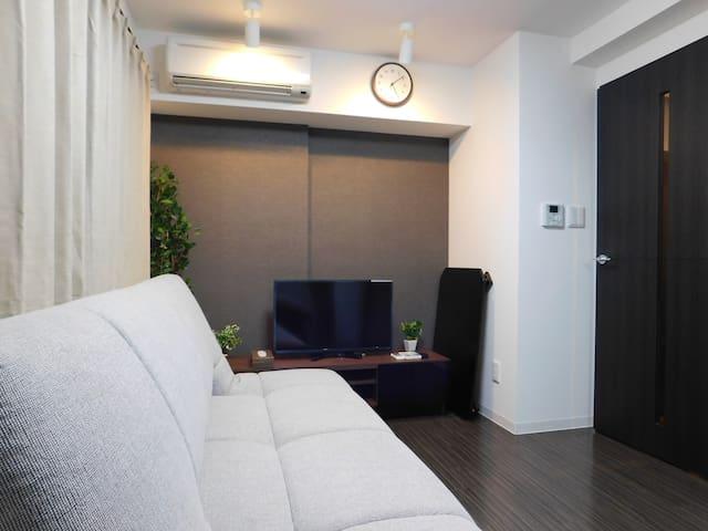 Sunny 1LDK Central Sapporo D5 (4 Guests) - Chuo Ward, Sapporo