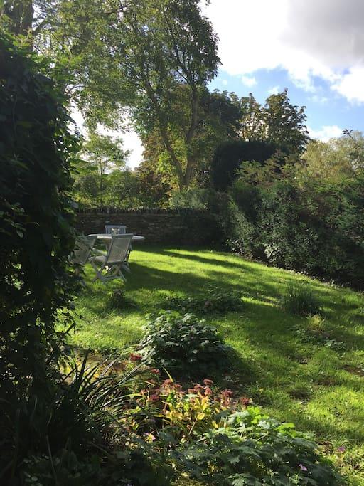 Views into the sunny south facing garden
