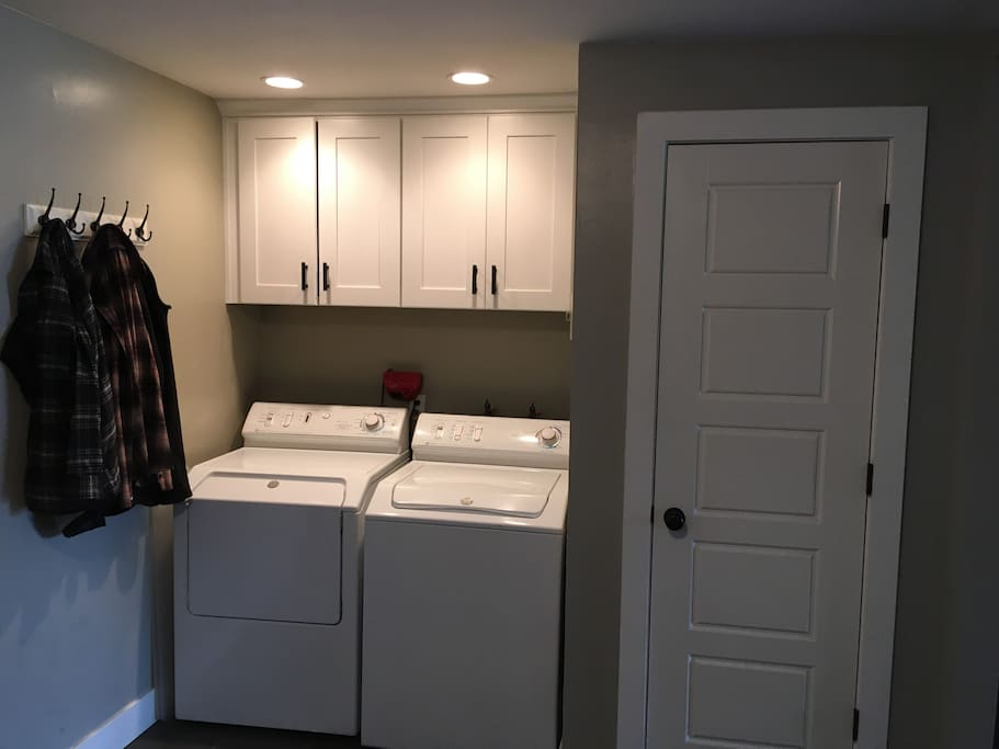 Convenient Washer and Dryer.