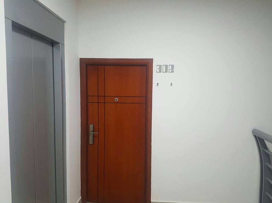 Entrada al departamento