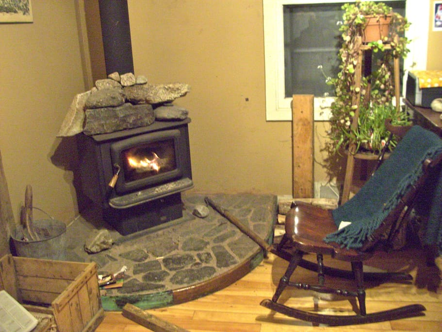Enjoy a cool evening by the woodstove