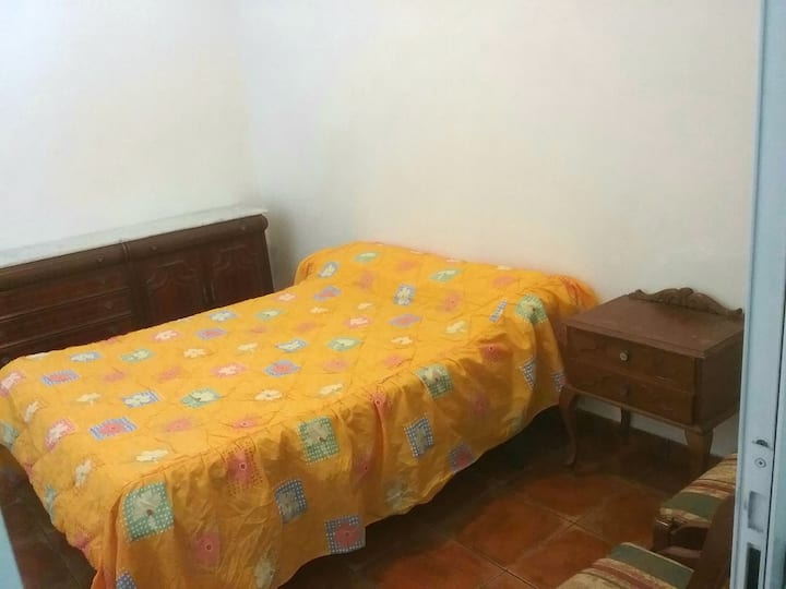 Private doublebedroom in typical canarian house.