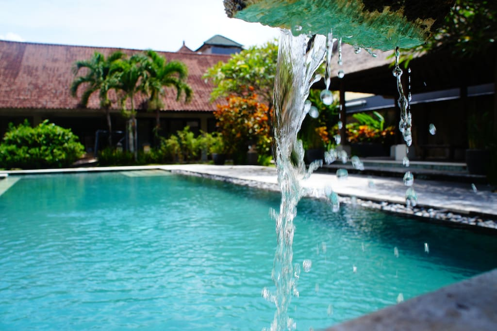 swimming pool is just 5 meters from the villa