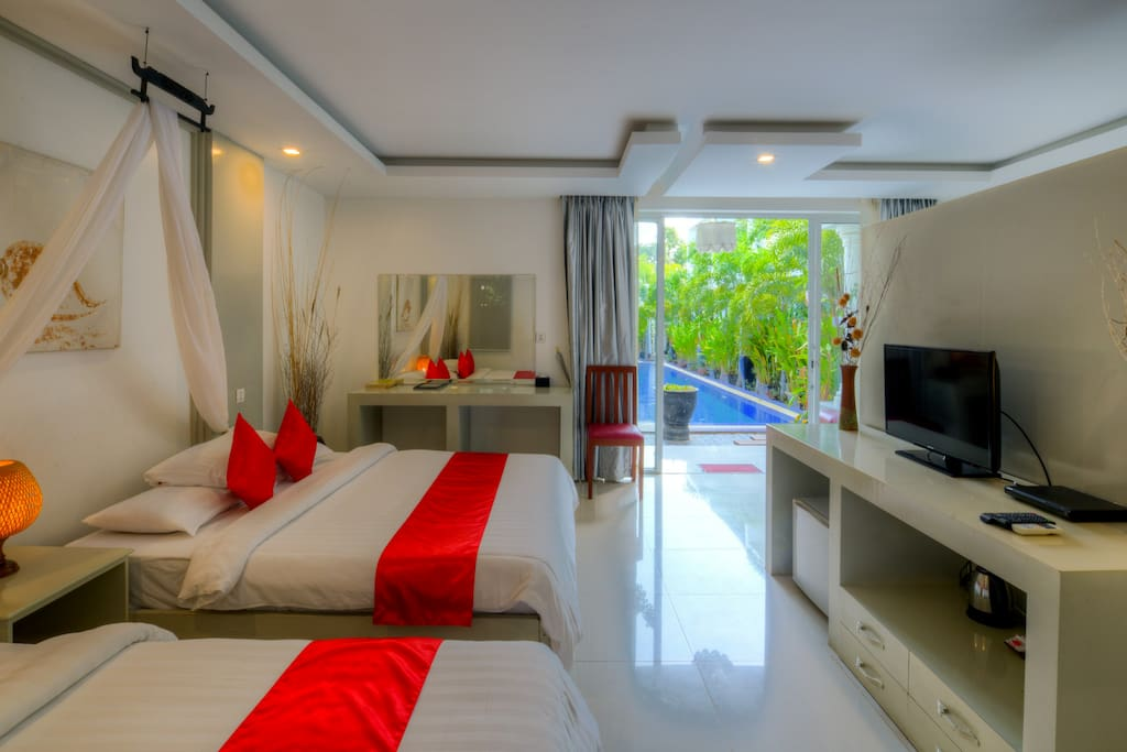 Family Suite with Balcony and Pool view