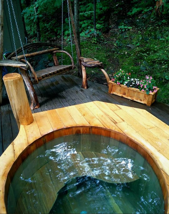 Relax to this recent built hot tub...