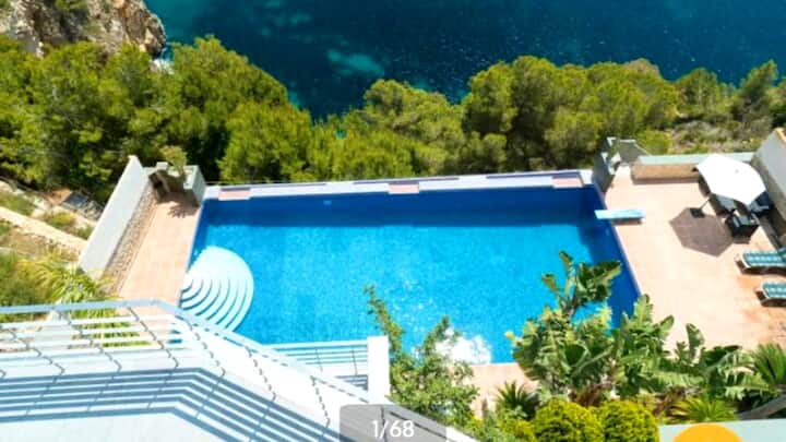 Villa with 4 bedrooms in Xàbia, with wonderful sea view, private pool, enclosed garden