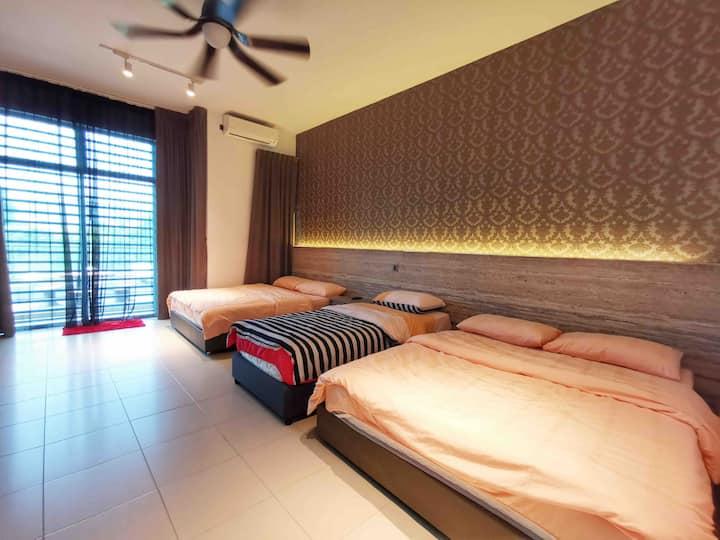 Kuantan homestay 5pax Room+ balcony+Free Wi-Fi