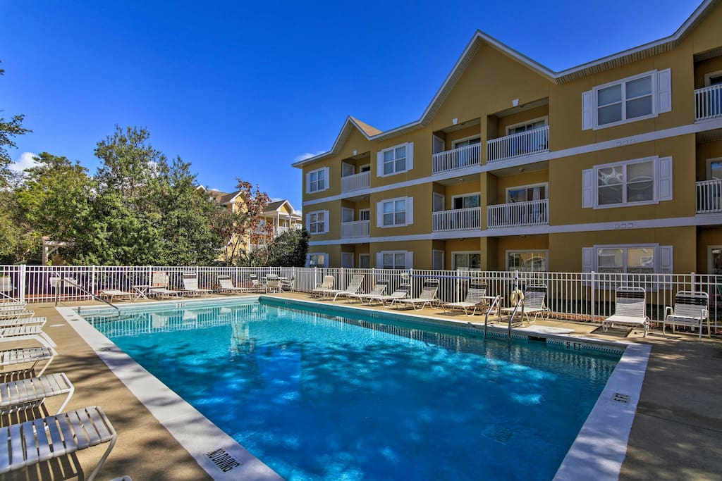 Lounge by the community pool or read a book on your private patio.