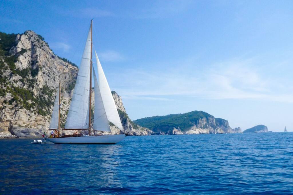 Rondine II - 60 feet private classic yacht in Cinque Terre