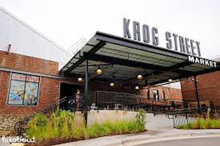 Just two blocks from Krog Street Market