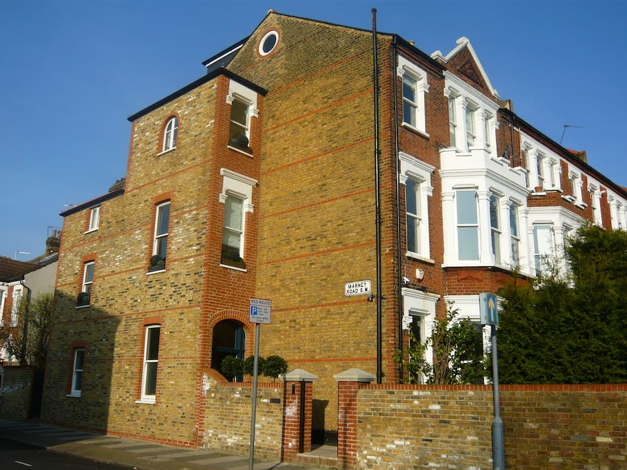 Our end of terrace Victorian House overlooking Clapham Common with a front and back garden.
