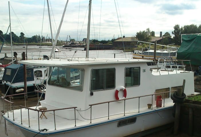 Unique Houseboat, River Deben. - Woodbridge - Vene