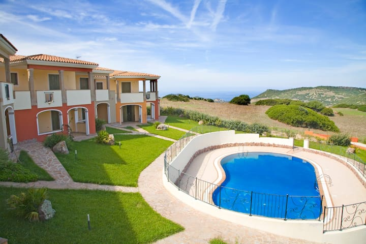Apartment mit Pool in Sardinien - Tergu - Lägenhet