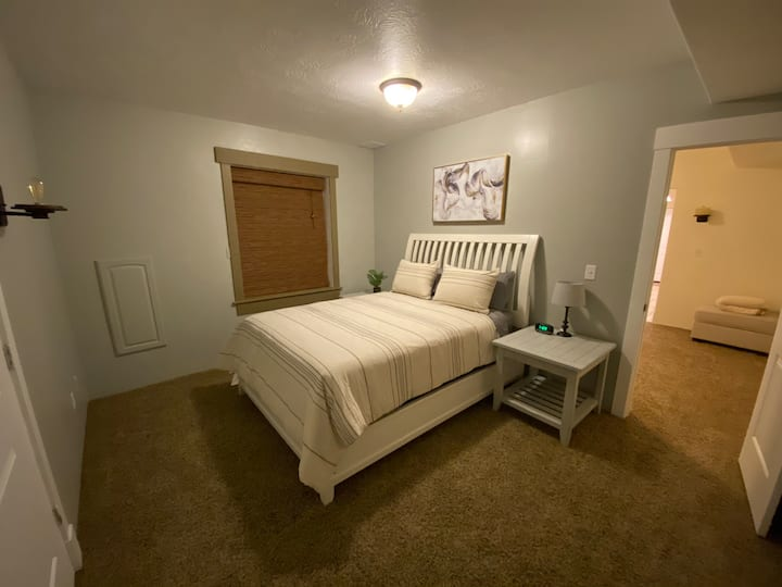 Private room in basement apartment.