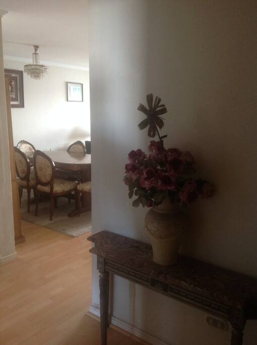 Entrance, very spacious apartment up to 9 people