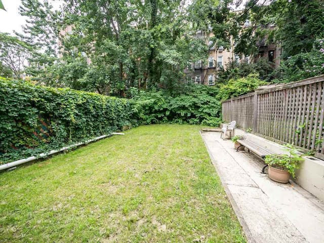 Hoboken 1BR Garden Level Apt - Huge Private Yard