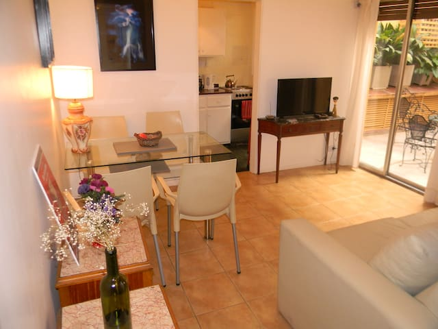 Lovely 1 BR apartment w/ private patio @ Recoleta