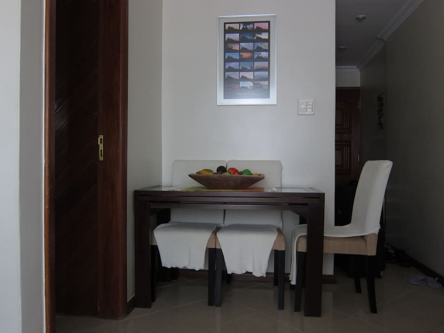 table for meals at living room