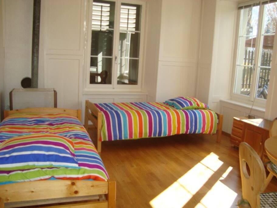 Privatzimmer mit zwei Bett