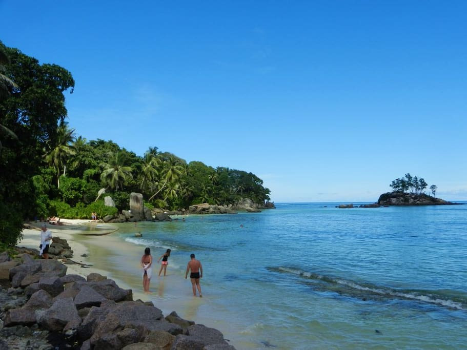 Anse Royale beach is within minutes of driving