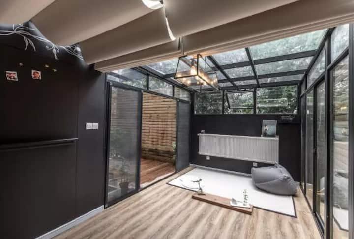 归隐-整套独享消毒 多条轨直达私家花园  超大投影 品质套房 视听影音享受