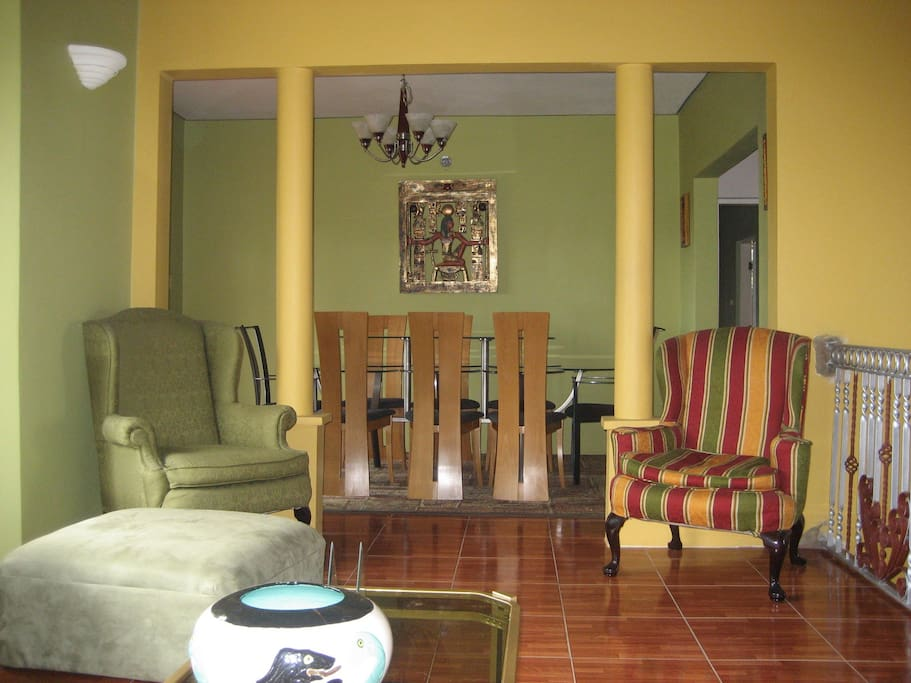 Partial view of living & dining room