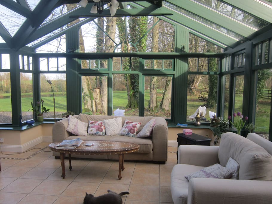 Conservatory which is part of kitchen/dining area.