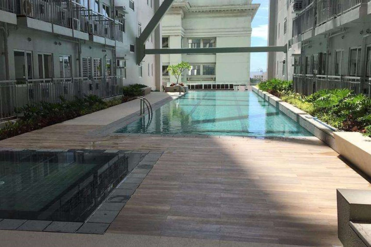 Pools and Sitting Area