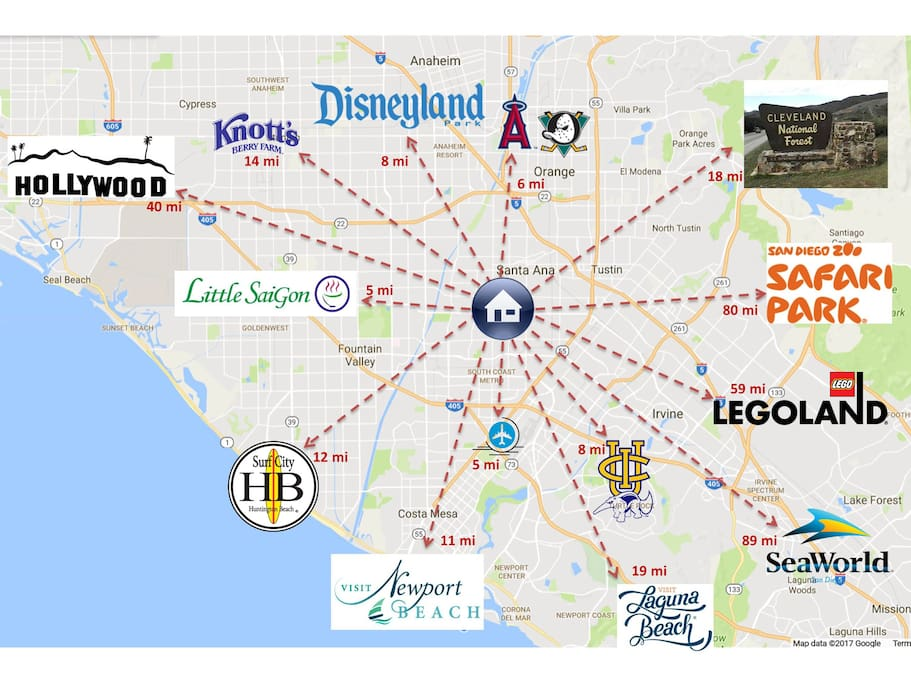The heart of SoCal top attractions and sandy beaches