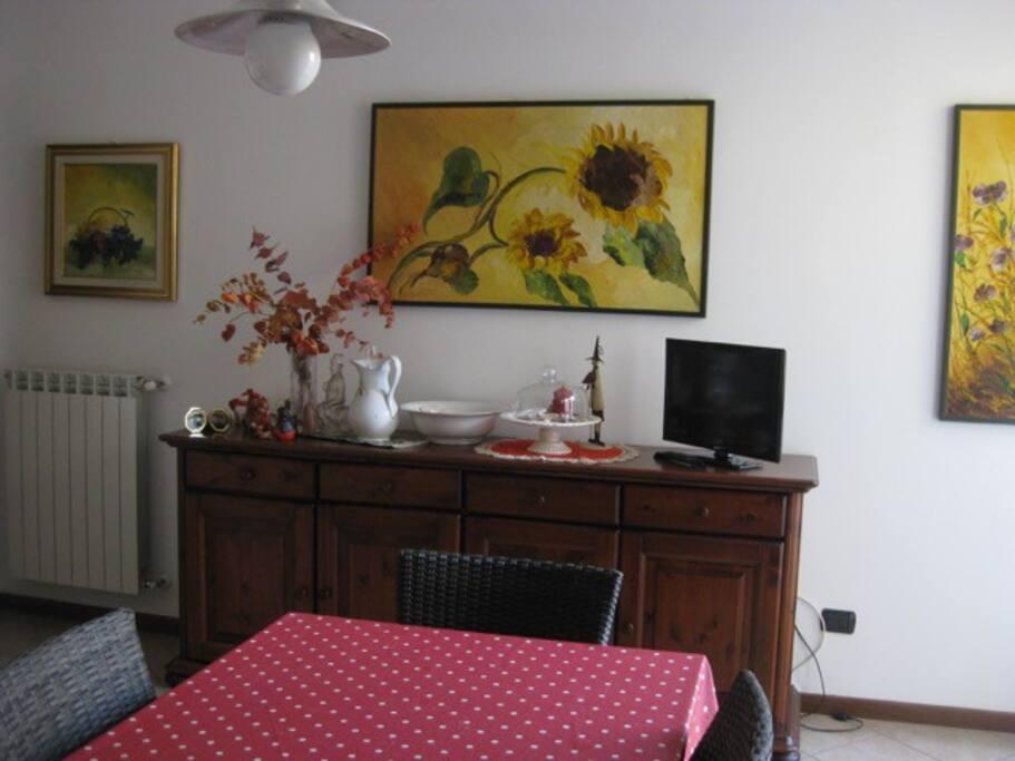 ambiente soggiorno cucina