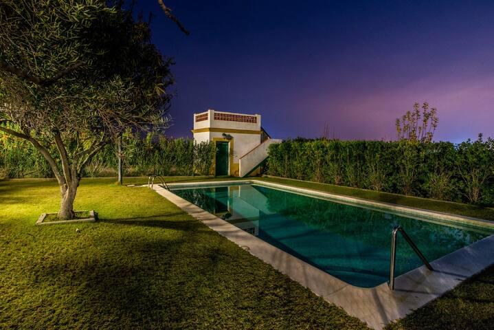 Vivienda rural en cortijo andaluz