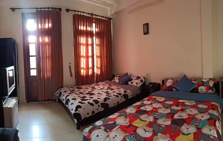 Twin Room with Balcony in Center Of Nha Trang