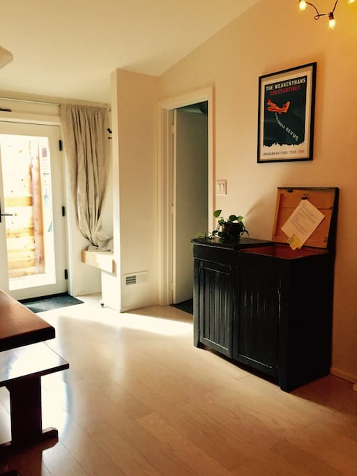 A warm entrance welcomes you